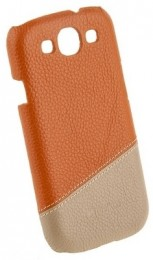 Накладка Melkco для Samsung Galaxy S3 i9300 Orange/Khaki