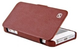 Чехол-книжка HOCO Duke folder Leather Case для iPhone 5 Brown