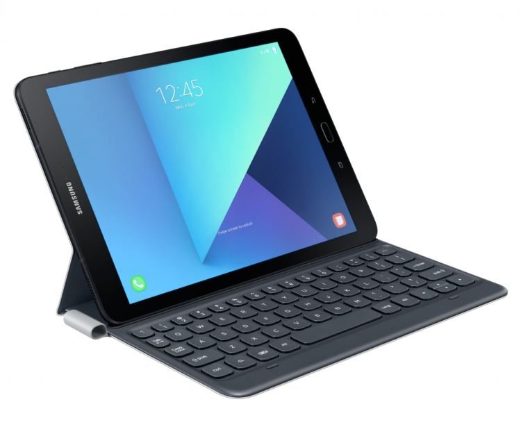 Чехол-клавиатура Samsung для Tab S3 9.7 EJ-FT820BSRGRU Bluetooth серый