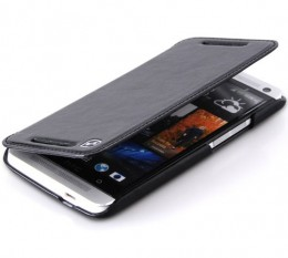 Чехол HOCO Leather Case Crystal для HTC One Black