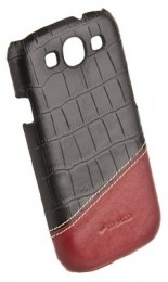 Накладка Melkco для Samsung Galaxy S3 i9300 Black Crocodile/Red