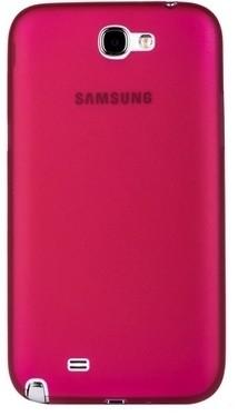 Накладка супертонкая для Samsung Galaxy Note 2 N7100 розовая