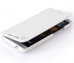 Чехол HOCO Leather Case Crystal для HTC One White