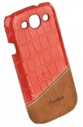 Накладка Melkco для Samsung Galaxy S3 i9300 Red Crocodile/Brown