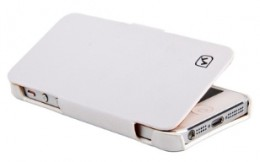 Чехол-книжка HOCO Duke folder Leather Case для iPhone 5 White