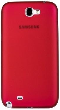 Накладка супертонкая для Samsung Galaxy Note 2 N7100 красная