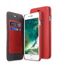 Чехол Melkco Face Cover Book Type для iPhone 7 Plus / 8 Plus Red (красный)