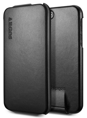Чехол SGP Leather Case Argos для iPhone 5 Black