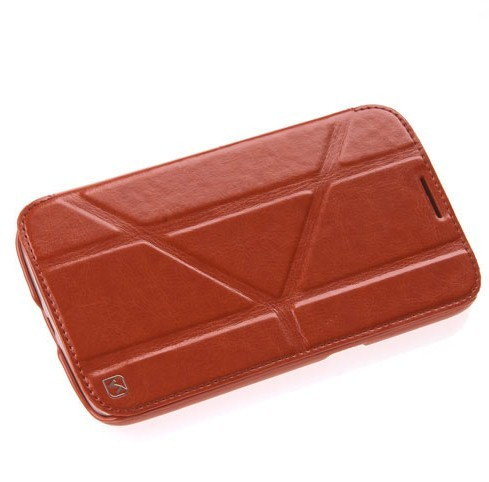 Чехол HOCO Crystal Leather Case для Samsung Galaxy Mega 6.3 i9200/9205 Brown