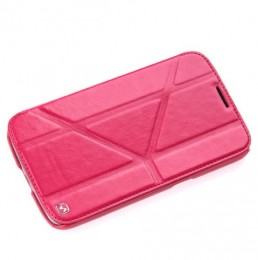 Чехол HOCO Crystal Leather Case для Samsung Galaxy Mega 6.3 i9200/9205 Rose