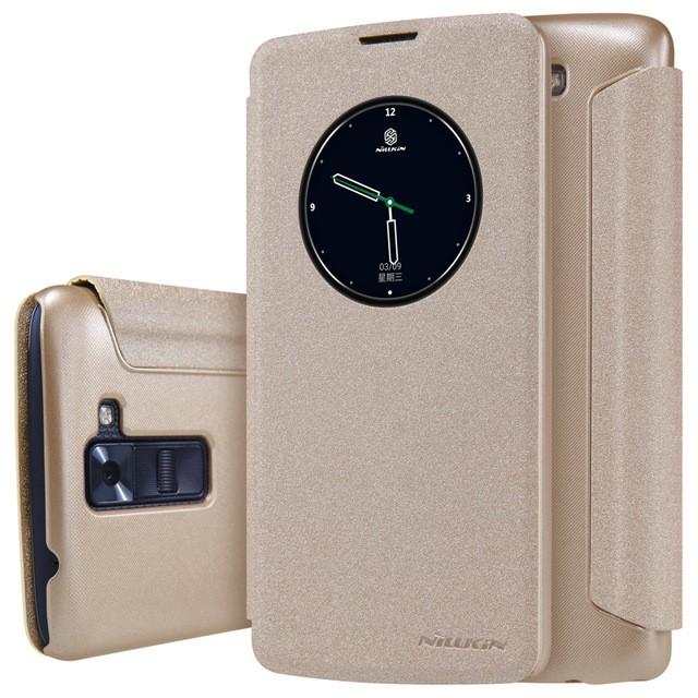 Чехол Nillkin Sparkle Series для LG K8 (K350) Gold (золотой)