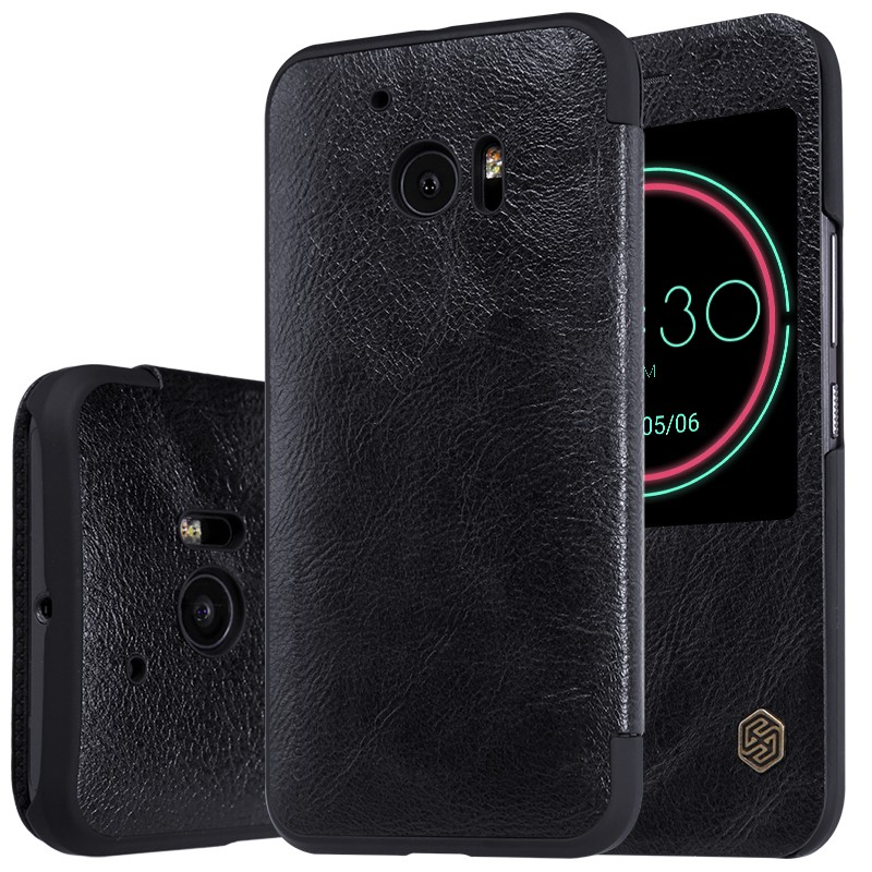 Чехол Nillkin Qin Leather Case для HTC One 10 (M10) Black (черный)