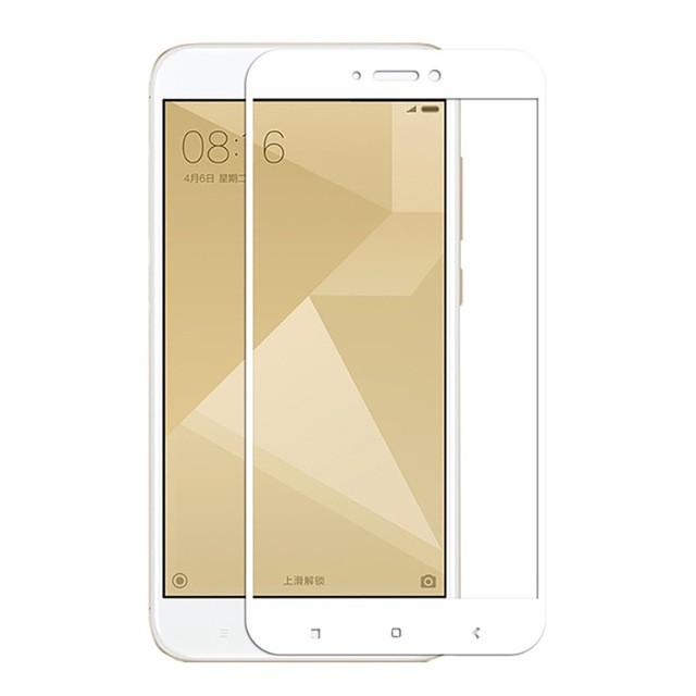 Защитное стекло для Xiaomi Redmi 4X полноэкранное белое