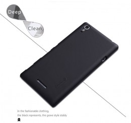 Накладка Nillkin Frosted Shield пластиковая для Sony Xperia T3 Black (черная)