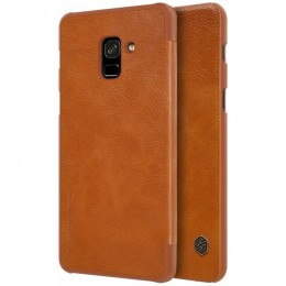 Чехол Nillkin Qin Leather Case для Samsung Galaxy A8 Plus (2018) A730 (A7 2018) Brown (коричневый)