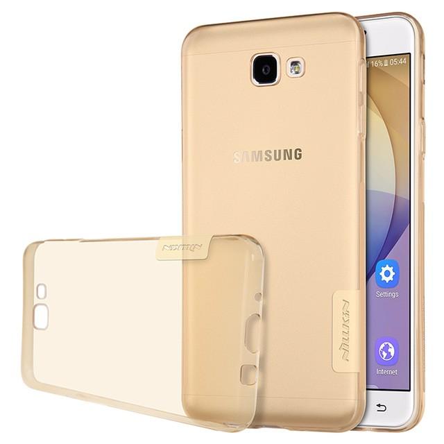 Накладка Nillkin Nature TPU Case силиконовая для Samsung Galaxy J7 Prime (G610/On7 (2016)) прозрачно-золотая