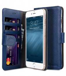 Чехол Melkco Wallet Book ID Slot Type для iPhone 7 Plus / iPhone 8 Plus Dark Blue (темно-синий)