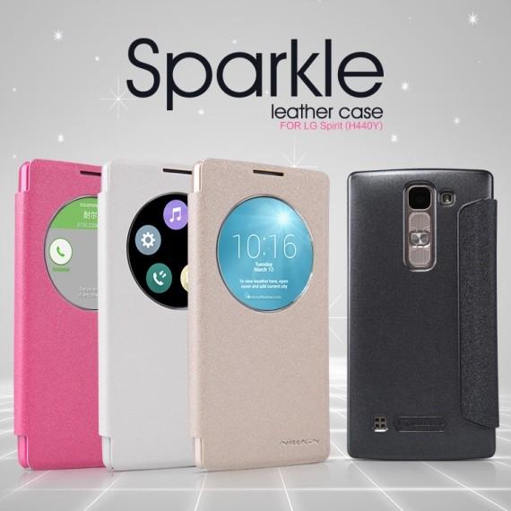 Чехол Nillkin Sparkle для LG Spirit H440Y белый