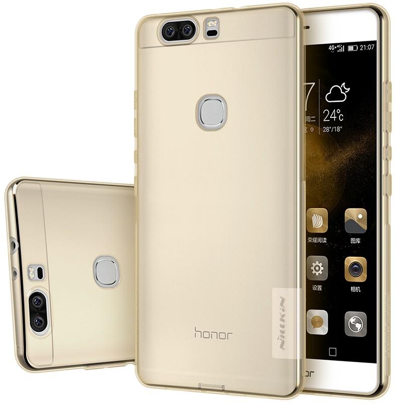 Накладка Nillkin Nature TPU Case силиконовая для Huawei Honor V8 прозрачно-золотая
