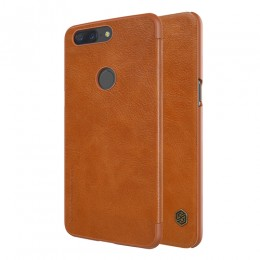 Чехол Nillkin Qin Leather Case для OnePlus 5T Brown (коричневый)