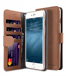 Чехол Melkco Wallet Book ID Slot Type для iPhone 7 Plus / iPhone 8 Plus Vintage Brown (коричневый)