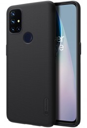 Накладка Nillkin Frosted Shield пластиковая для OnePlus Nord N10 Black/Чёрная