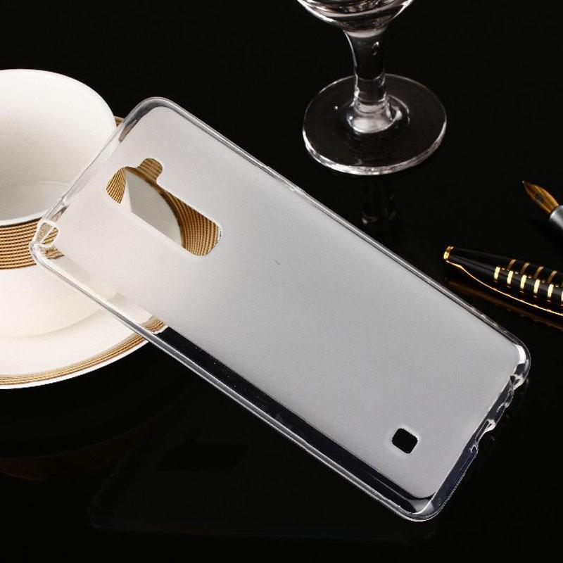 Накладка KissWill силиконовая для LG Stylus 2 Plus прозрачно-белая