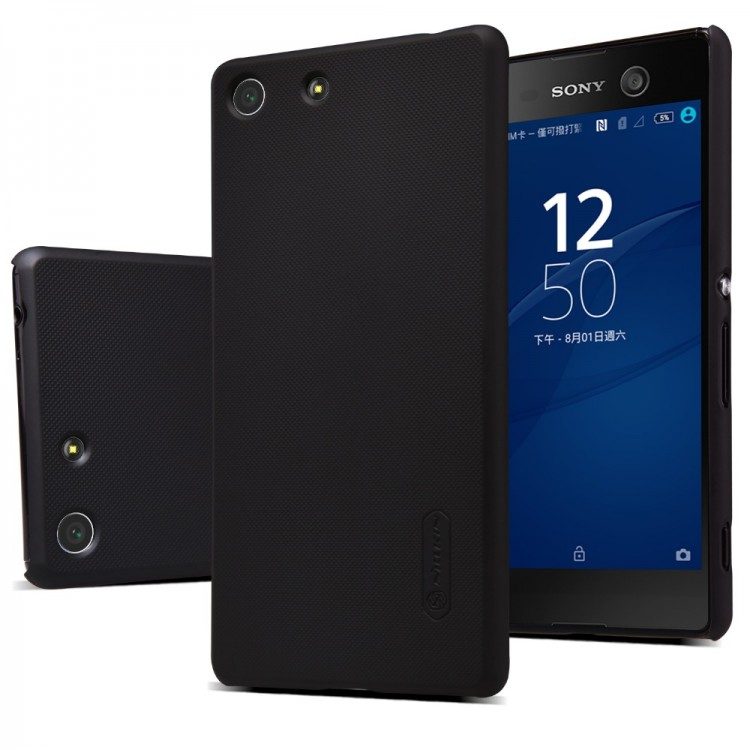 Накладка Nillkin Frosted Shield пластиковая для Sony Xperia M5/M5 Dual черная