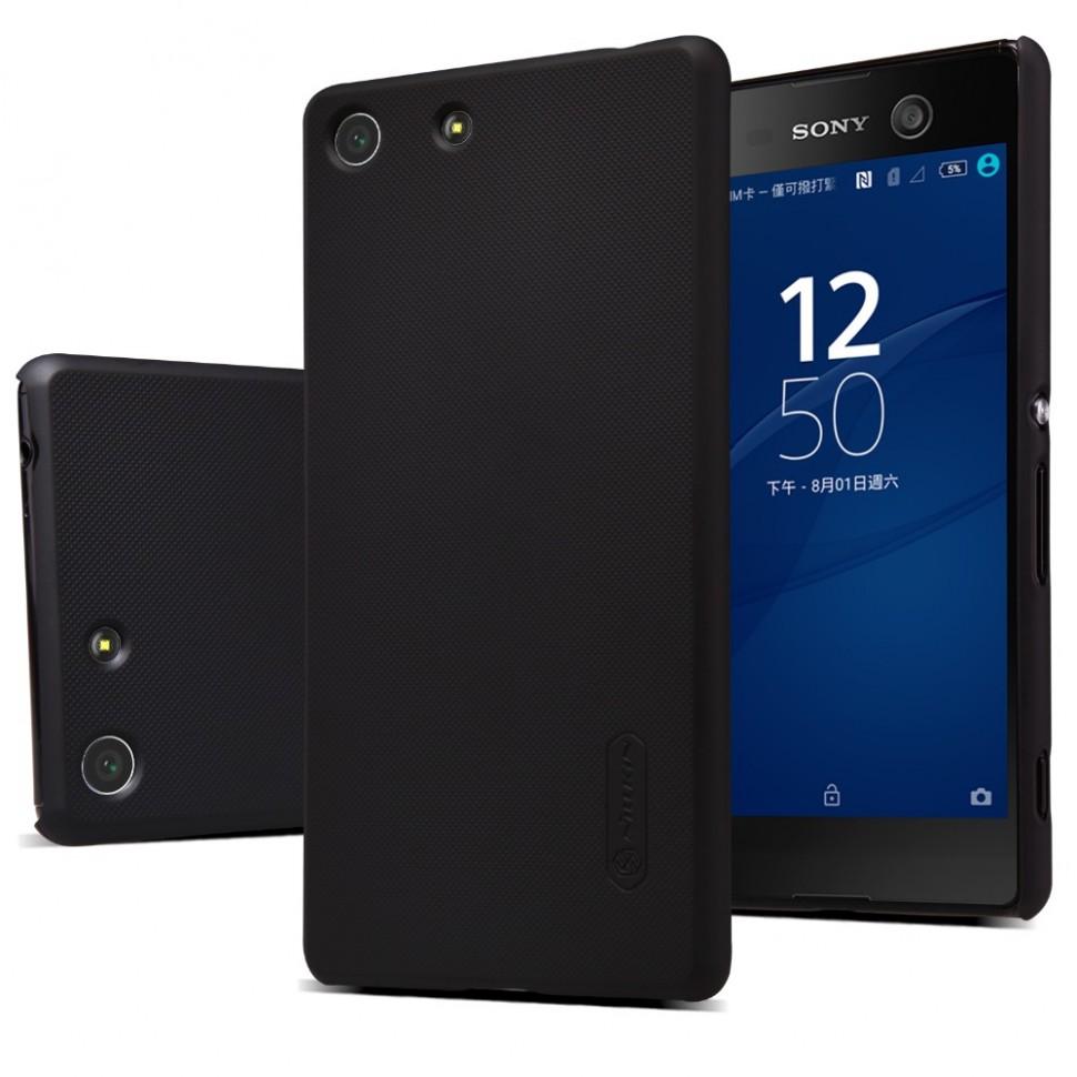 Накладка Nillkin Frosted Shield пластиковая для Sony Xperia M5/M5 Dual черная