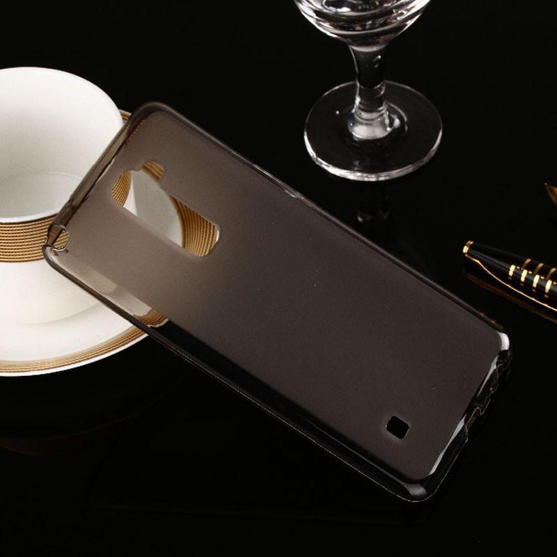 Накладка KissWill силиконовая для LG Stylus 2 Plus прозрачно-черная
