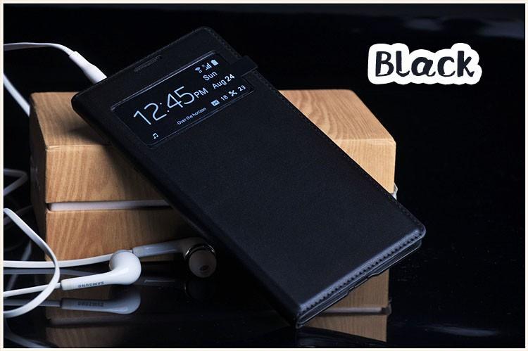 Чехол Flip Cover для Samsung Galaxy S4 mini i9190/ i9192/ i9195 черный с окном