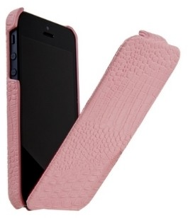 Чехол Borofone Crocodile Leather case Pink для iPhone 5