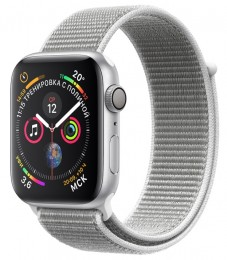 Apple Watch Series 4 GPS 44mm Silver Aluminum Case with Seashell Sport Loop (MU6C2) Серебристый/Белая ракушка