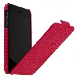 Чехол Borofone Crocodile Leather case Rose red для iPhone 5