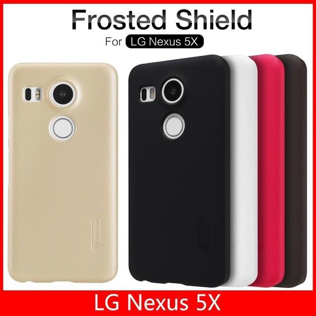 Накладка Nillkin Frosted Shield пластиковая для LG Nexus 5X коричневая