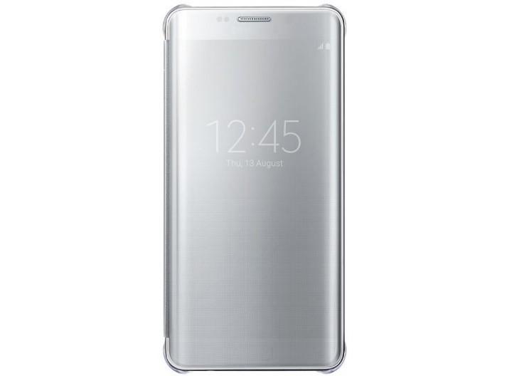 Чехол Clear View Cover для Samsung Galaxy S6 Edge+ G928 EF-ZG928CSEGRU серебристый