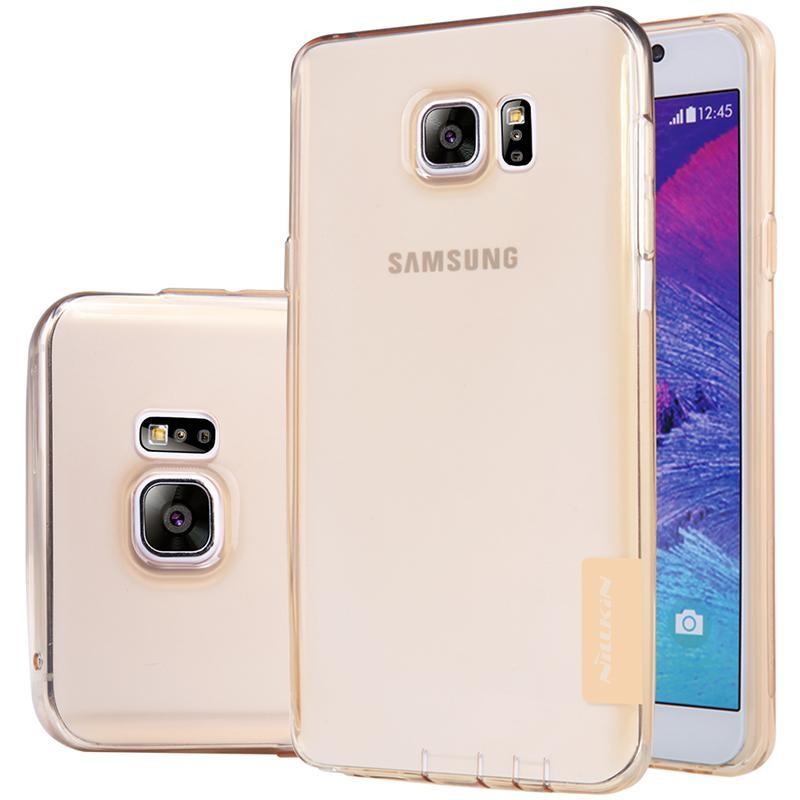Накладка Nillkin Nature TPU Case силиконовая для Samsung Galaxy Note 5 N920 прозрачно-золотая