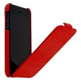 Чехол Borofone Crocodile Leather case Red для iPhone 5