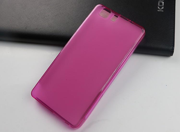 Накладка силиконовая для Doogee X5/X5 Pro прозрачно-розовая