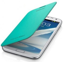Чехол Flip Cover для Samsung GALAXY Note II N7100 бирюзовый