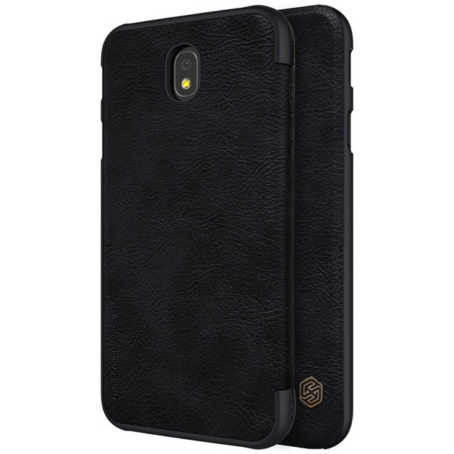 Чехол Nillkin Qin Leather Case для Samsung Galaxy J7 2017 (J7 Pro/J730) Black (черный)