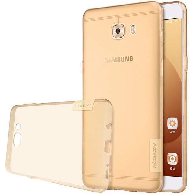 Накладка Nillkin Nature TPU Case силиконовая для Samsung Galaxy C9 Pro (C9000) прозрачно-золотая