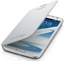 Чехол Flip Cover для Samsung GALAXY Note II N7100 белый