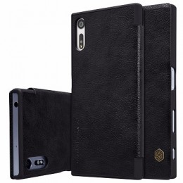 Чехол Nillkin Qin Leather Case для Sony Xperia XZ (F8331/F8332) Black (черный)