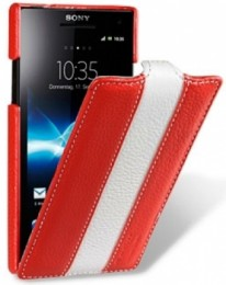 Чехол Melkco для Sony Xperia S LT26i Red/White
