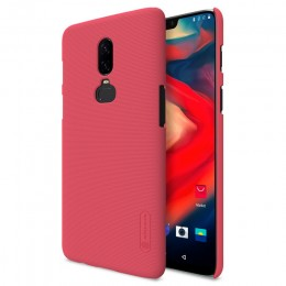 Накладка Nillkin Frosted Shield пластиковая для OnePlus 6 Red (красная)