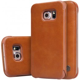 Чехол Nillkin Qin Leather Case для Samsung Galaxy S6 Edge G925 Brown (коричневый)