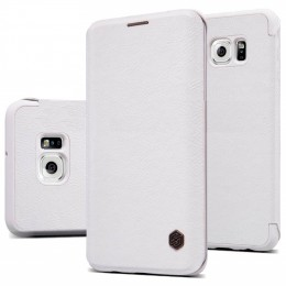 Чехол Nillkin Qin Leather Case для Samsung Galaxy S6 Edge G925 White (белый)