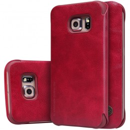 Чехол Nillkin Qin Leather Case для Samsung Galaxy S6 Edge G925 Red (красный)
