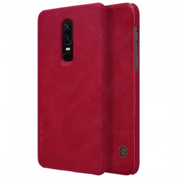 Чехол Nillkin Qin Leather Case для OnePlus 6 Red (красный)